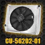 Aluminum Radiator with electric fan CU-56202-01