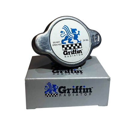 Griffin Mini Racing Radiator Cap - 1 1/8 inch,22-24 lbs. (CAUTION: High Pressure Cap)