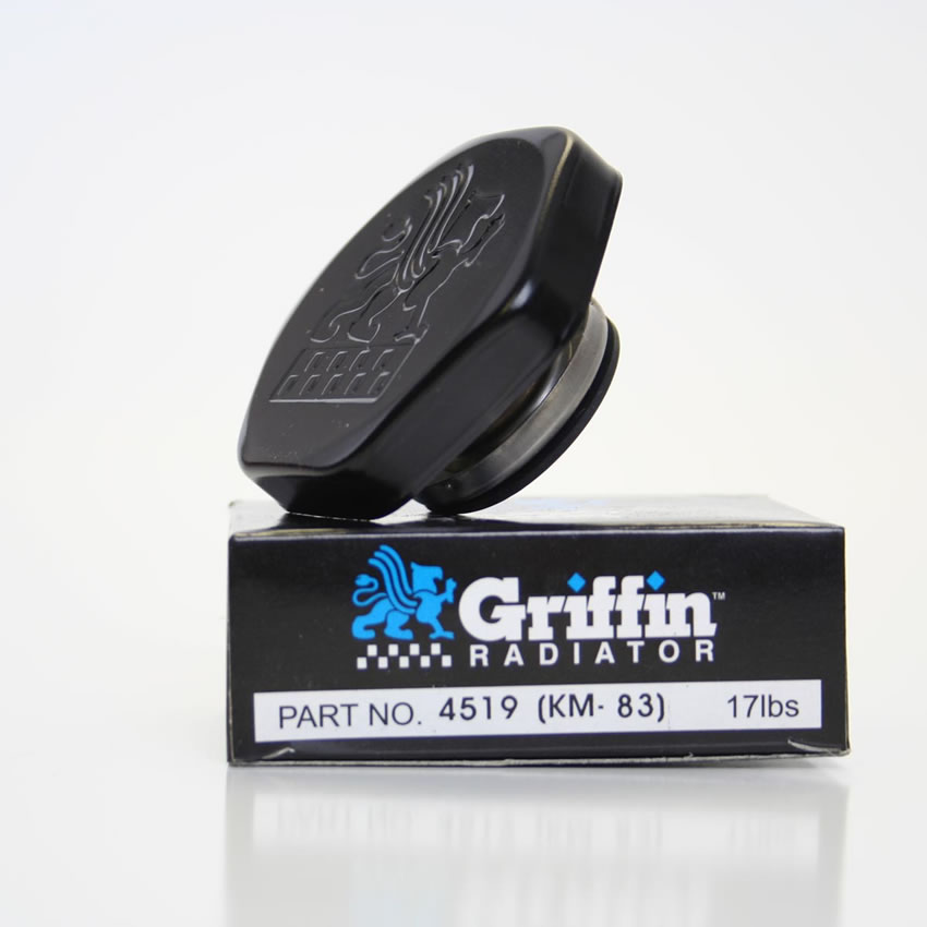 Griffin Logo Black Radiator Cap - 17 lbs.